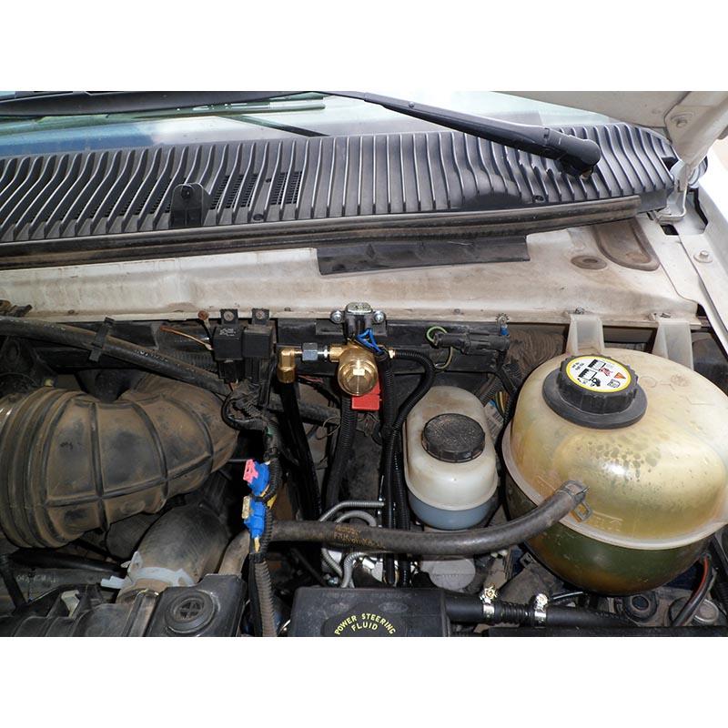Форд Экоголайн Е-350 (Ford Econoline E-350) V-10 - Установка газового оборудования 4 поколения (ГБО-4) в Москве